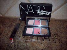 NARS Narsissist Cheek Palette Blush Bronzer DEVOTEE ORGASM LAGUNA + Brush NIB