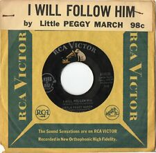 Little Peggy March  I Will Follow Him  On  RCA  Original Record Store Tag