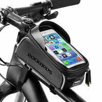 RockBros Bicycle Front Tube Frame Bag 6.0 Inch Touch Screen Waterproof Phone Bag