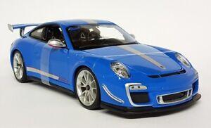 Maisto 1/18 Scale - Porsche 911 GT3 RS 4.0 Bright Blue (997) Diecast Model Car
