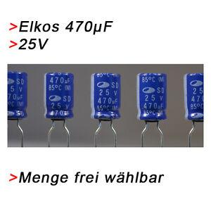 ELKO Kondensatoren 470 µF 25V (BIS 25V) Elkos Elektrolytkondensator 470µF uF