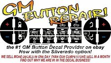 Automotive AC Button Repair kits Decal Stickers kits for 2007-2014 GMC Trucks