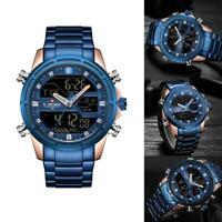 NAVIFORCE Herren Sport LED Digitaluhren Business Analog Quarz Armbanduhr