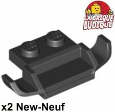 BLACK x 2 50949 PM210 PLATE Modified 1 x 2 with Racers Car Grille LEGO
