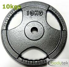 29mm Standard 10kg Hammertone Weight Weights Plate EZ Tri Grip Fitness Gym
