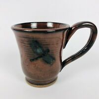 Glazed Dragon Fly Signed Homemade Coffee Cup Mug B Stecz 2008