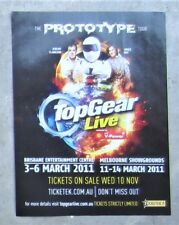 TOP GEAR LIVE TOUR MELBOURNE BRISBANE 2011 Magazine Page Sales Ad Advertisement