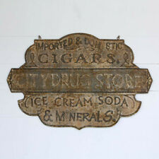 Drug Store Advertising Sign Vintage Style Metal