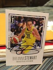 Breanna Stewart Autographed Basketball Card