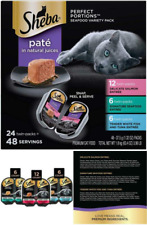 New listing 2.6oz 48 Serving Wet Cat Pet Meal Food Tray 24 Seafood Flavor Variety Pack