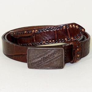 DIESEL Belt 'BLOCCA Cintura' NEW Mens or Womens Belt 100% Cow Leather! Narrow!