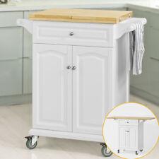 SoBuy® Desserte à roulettes Meuble chariot de cuisine de service ,FKW36-WN FR