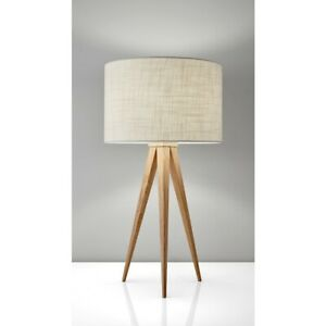 Adesso Director Table Lamp, Natural Wood - 6423-12