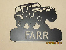 CUSTOM LIFTED JEEP MAILBOX TOPPER (your name) METAL ART PLASMA ART