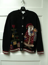 """""""NORTHERN ISLES"""" BRAND APPLIQUED """"SANTA / TREE"""" SWEATER, SIZE SMALL - NWT"""