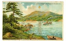 Cold Spring NY -CROWS NEST ON HUDSON RIVER-J. Koehler Hold to Light Postcard HTL