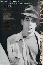 Paul Simon 1988 Negotiations & Love Songs Promo Poster Original