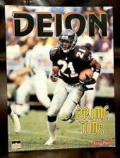 DEION SANDERS Prime Time 1993 FOLDER Atlanta Falcons NFL 9 x 12 in. Starline