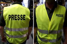 GILET SECURITE FLUO JAUNE PRESSE TAILLE UNIQUE GILET MOTO  SIGNALISATION