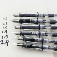 Gothic Arabic Italic Parallel Calligraphy Fountain Pen 0.7/1.5/1.1/1.9/2.5/2.9mm