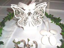 10 x Hochzeit Kommunion Konfirmation Taufe Gastgeschenk Box Schmetterling