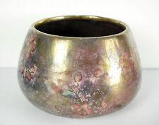 Coupe vase art nouveau décor végétal émail craquelé irisé c1900 jugendstill 244g