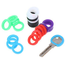 24X Bright Colors Hollow Silicone Key Cap Cover Topper Keyring With Bly Bra Tbo