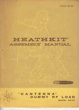 ORIGINAL1965 HEATHKIT  ASSEMBLY MANUAL  MODEL HN-31 CANTENNA DUMMY RF LOAD