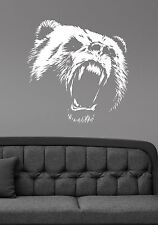 Bear Wall Decal Animal Head Vinyl Sticker Nature Wildlife Art Bedroom Decor br5