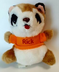 "Rick Racoon Shirt Tales Vintage 1982 Hallmark 6.5"" Stuffed Animal Plush"
