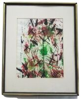 1999 Abstract Watercolor on Paper Signed Illegibly