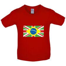 Magliette, maglie e camicie a manica corta con girocollo per bambini dai 2 ai 16 anni dal Brasile