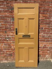 Original Victorian 6 PANEL TIMBER SOLID External Front Cricket Bat DOOR old 4 3