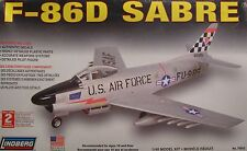 USAF F-86D SABRE JET LINDBERG 1:48 SCALE PLASTIC KIT MODEL AIRPLANE