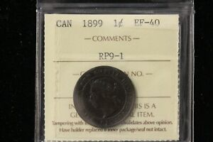 "1899 Canada. One Cent. ""RP9-#1"" ICCS Graded EF-40 (XUV964)"