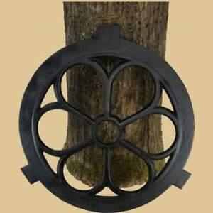 Fenster rund Gotisch Stallfenster Eisenfenster Guss Eisen NEU Kunst schwarz 43cm