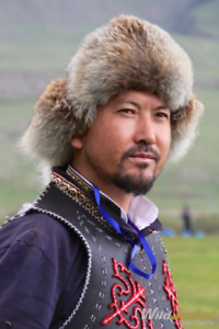 Red fox fur hat Mongolian Kazakhstan Eagle hunters hat Malakai size 56-60cm