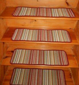 "15 Step  9"" x 29.1/2"" + 2 Landing 29"" x 30"" Stair Treads 100% Wool  Carpet"