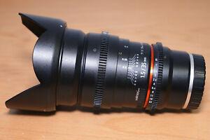 Walimex Pro 35mm / 1.5 Foto & Video VDSLR Sony E-Mount Objektiv (Alpha, FS7)