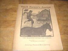 4 Issues Small Farmer's Journal (Practical Horse-farming) 1999 & 2000