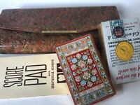 Vintage Two Decks Poker Unused Playing Cards & Score Pad With Case U.S. P.C.C.