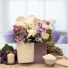 Mothers Day Gift Basket Spa Lavender Scented Set Bath Body Products Beauty Kit