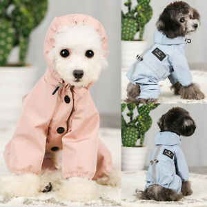 Waterproof Small Medium Dogs Jacket Reflective Hoodie Raincoats Jumpsuit Clothes