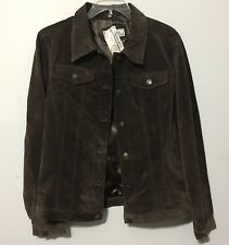 NWT Womens Passport Leather Lined Suede  Jacket Size Large