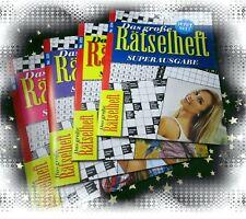 Bücherwurm Angebot: 4 NEUE RÄTSELHEFTE - GROSSFORMAT DIN A4 * 223*225*226*228