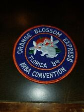 1984 Arba Orange Blossom Express Rabbit show Convention Vintage Patch Florida