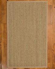 NaturalAreaRugs Natural Fiber Hand-Crafted Mayfair Seagrass Rug, Khaki (4' x 6')
