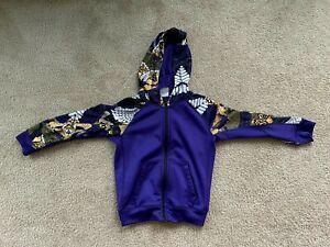 NIKE Kobe Bryant Mamba Hoodie Kids size 6 Small Purple therma-fit