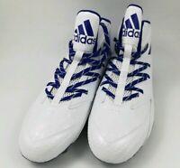 Adidas Mens Football Quickframe Cleats White Blue Size 12.5 ( AQ8767 ) NWOB