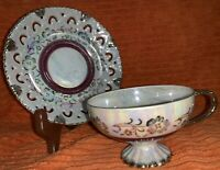Vintage Lusterware Cup & Saucer - Unbranded - Irridescent